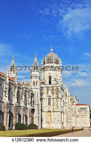 Stock Photography of The Jeronimos monastery in Lisbon k12612380.