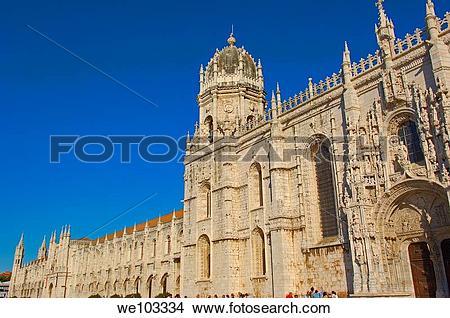 Stock Photo of Hieronymites Monastery (Mosteiro dos Jeronimos.