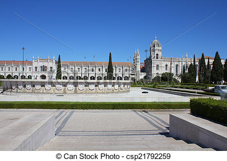 Stock Images of Jeronimo monastery in Lisbon, UNESCO.