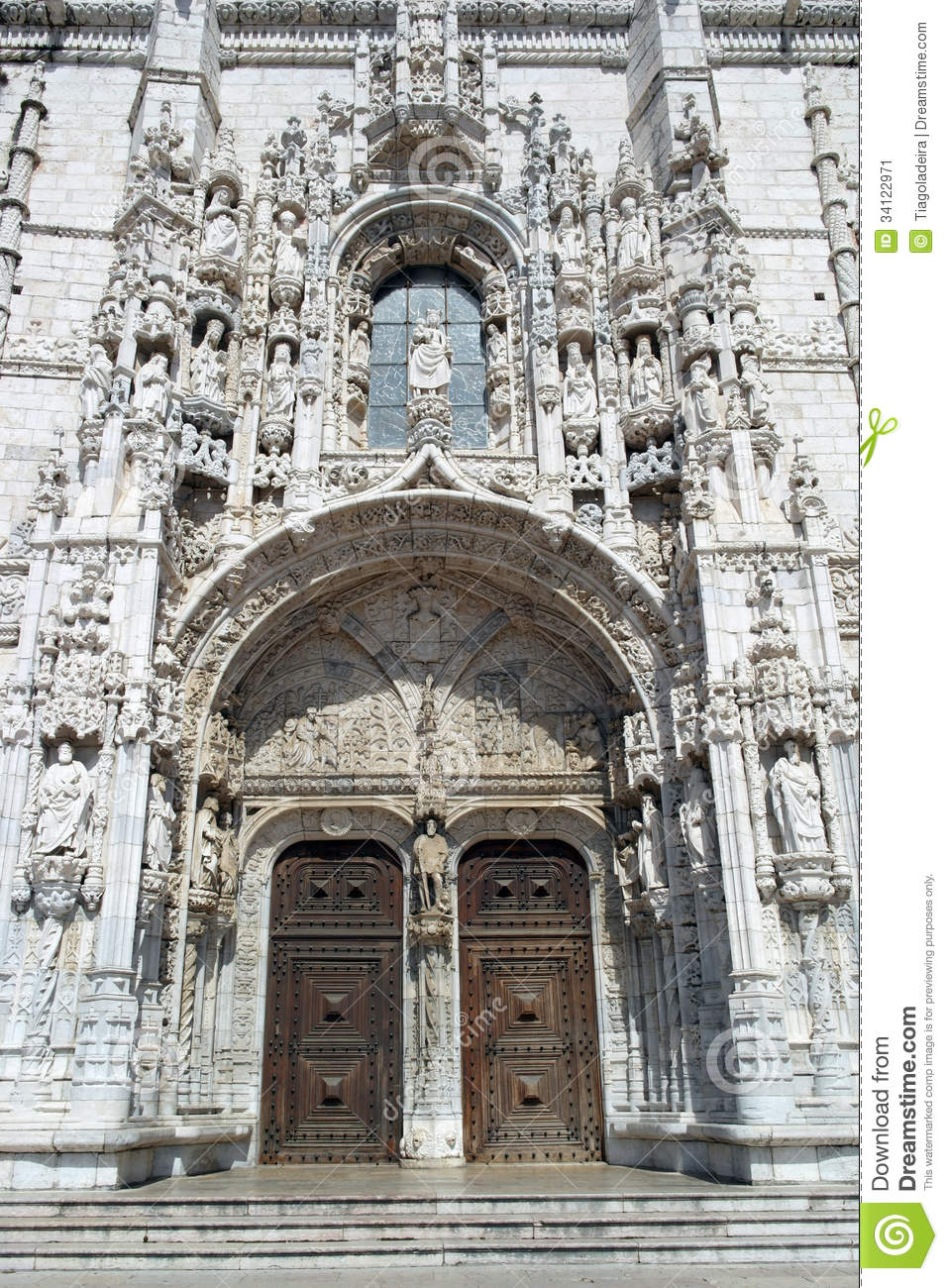 Jeronimos Monastery, Lisbon, Portugal Stock Image.