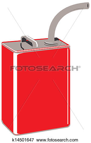 Clip Art of Gasoline jerrican k14501647.
