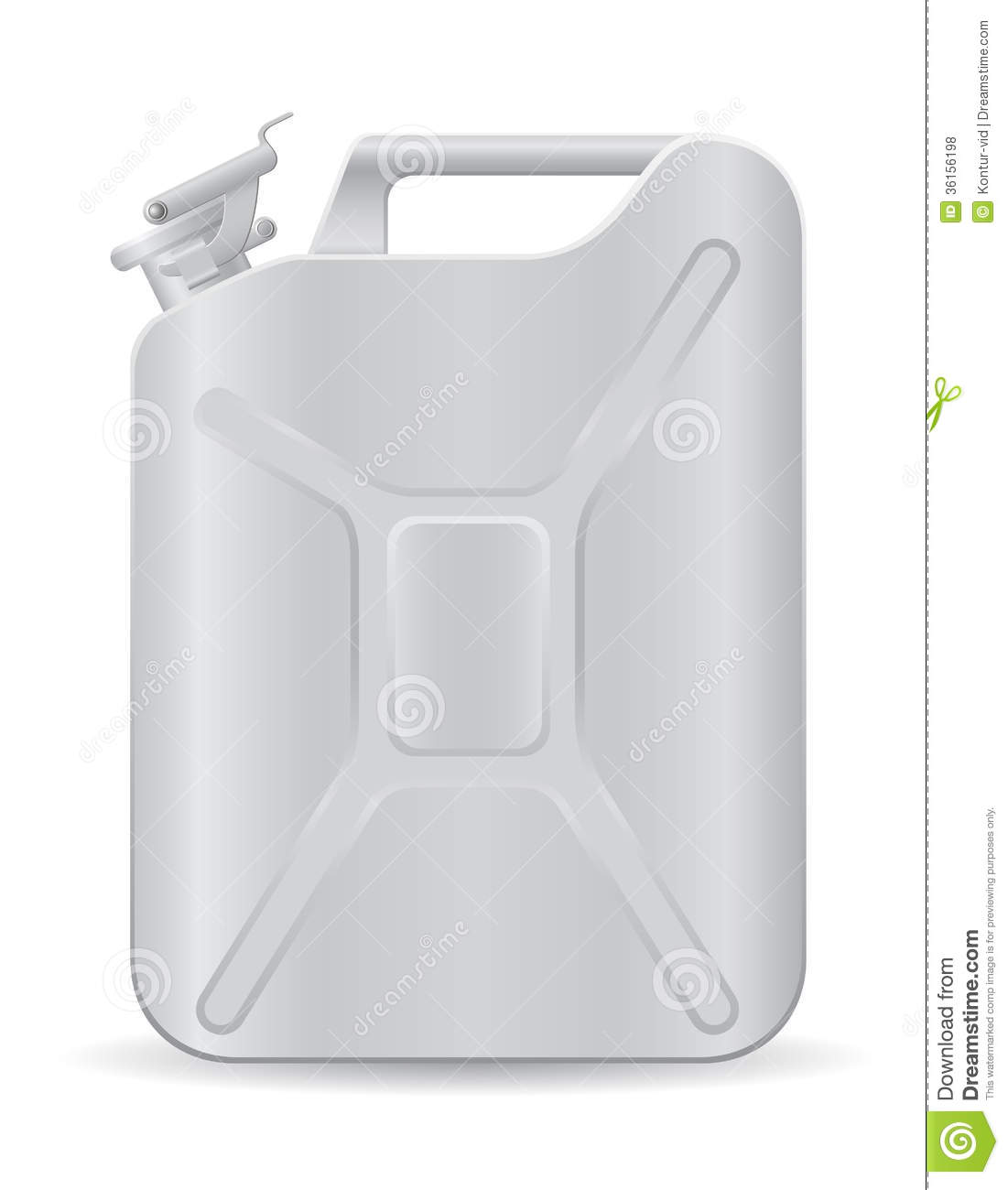 Metallic Jerrycan Vector Illustration Royalty Free Stock Photos.