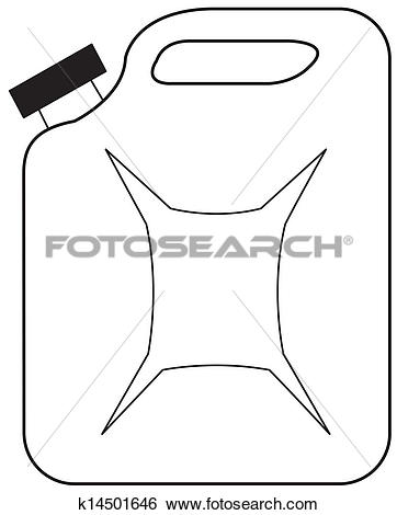 Clip Art of Gasoline jerrican k14501646.