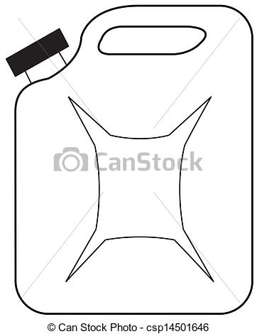 EPS Vector of Gasoline jerrican.