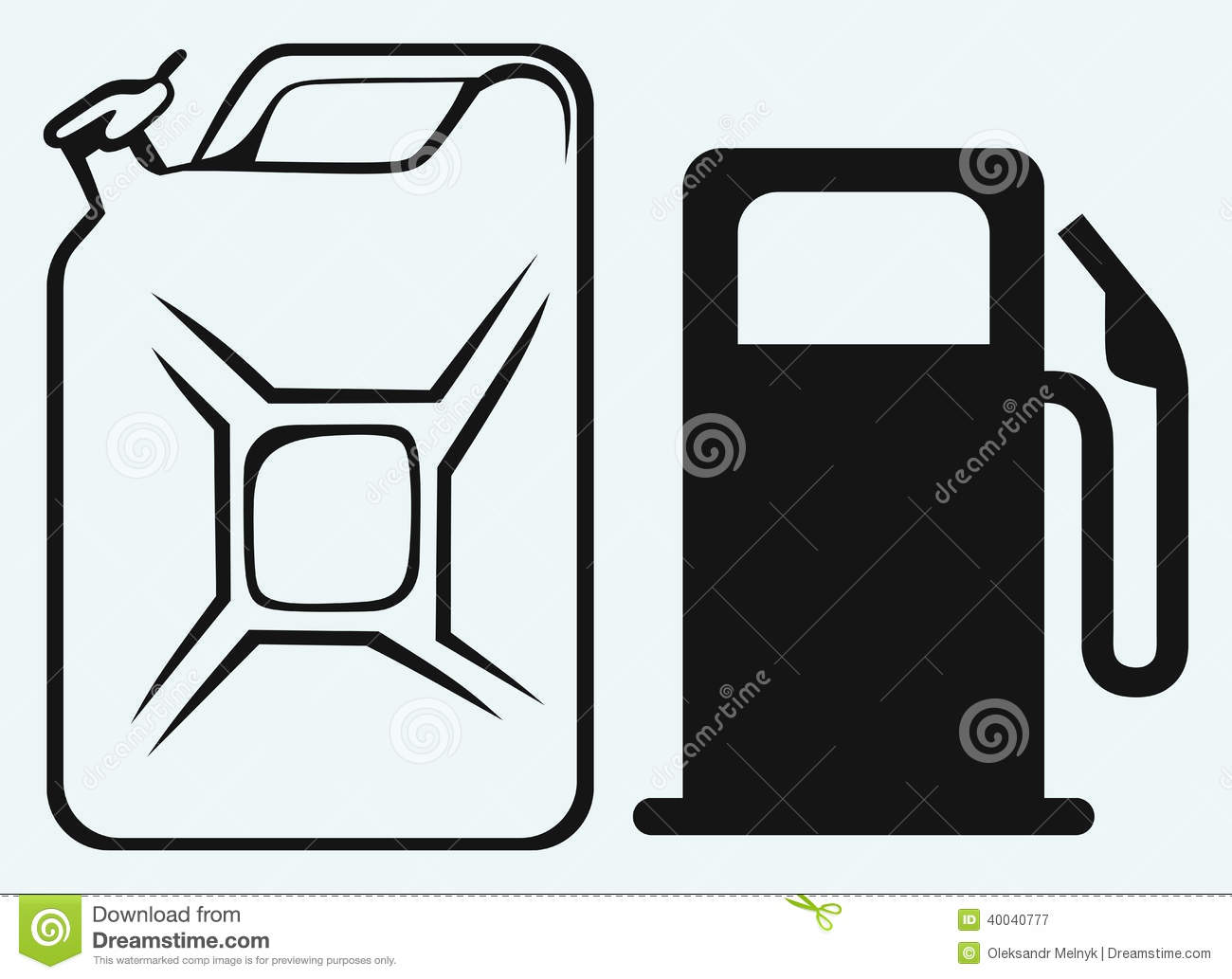 Gas Station And Jerrycan Stock Vector.