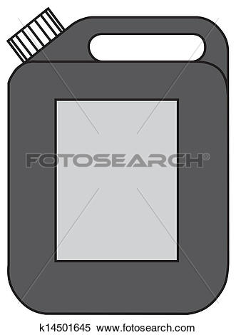Clipart of Gasoline jerrican k14501645.