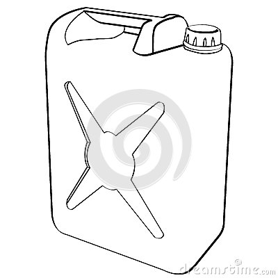 Green Plastic Gas Can Fuel Container Stock Illustrations.