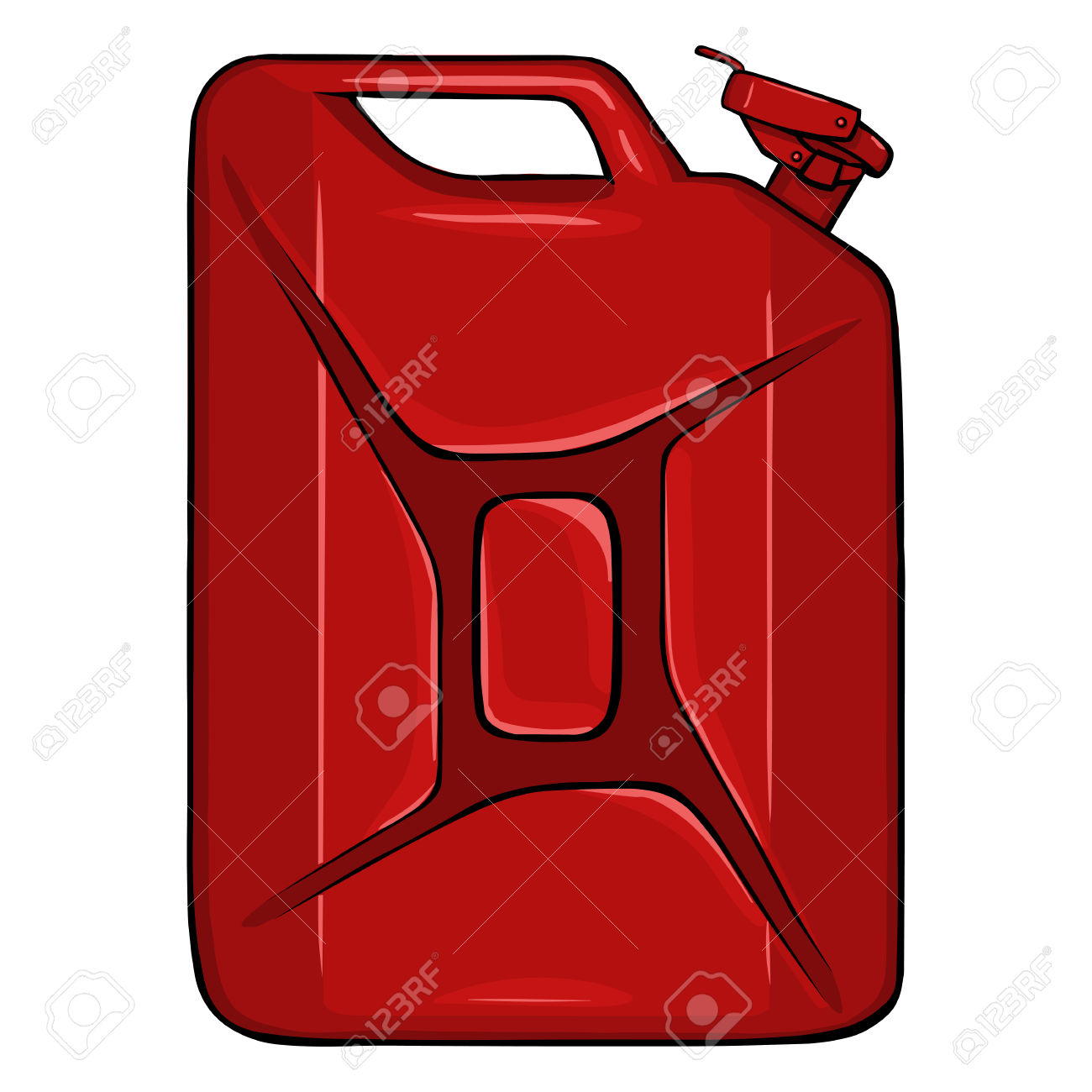 Vector Cartoon Single Jerry Can On White Background Royalty Free.