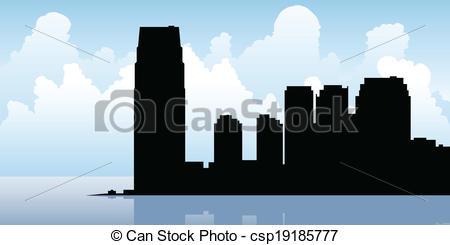 Vectors Illustration of Jersey City Skyline.