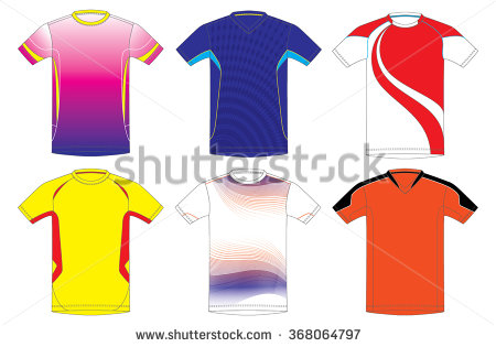 Sports Jersey Stock Images, Royalty.