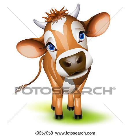 Little jersey cow Clip Art.