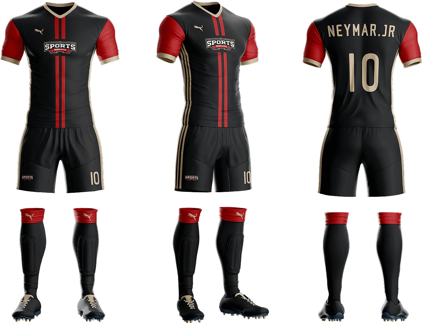 Download Goal Soccer Kit Jersey Uniform Template Psd.