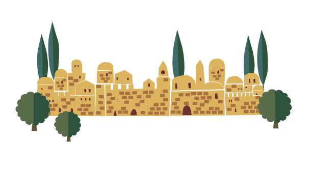 Best Jerusalem Old City Illustrations, Royalty.