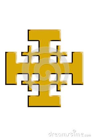 Jerusalem Cross. Royalty Free Stock Photography.