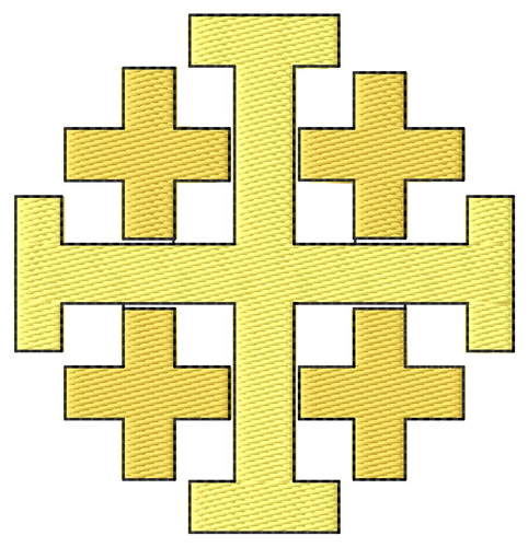 Jerusalem cross pattern for barn quilt.