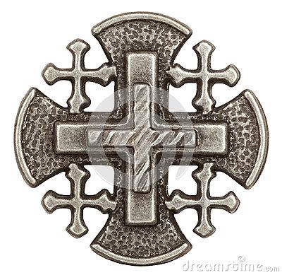 Jerusalem Cross Royalty Free Stock Image.
