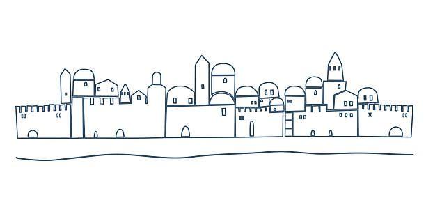 Jerusalem Night Clip Art, Vector Images & Illustrations.