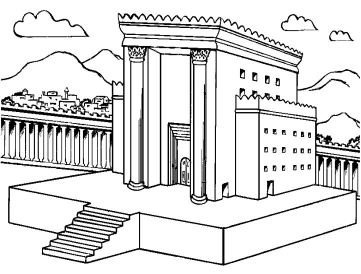 Download bible temple coloring page clipart Solomon's Temple Bible.