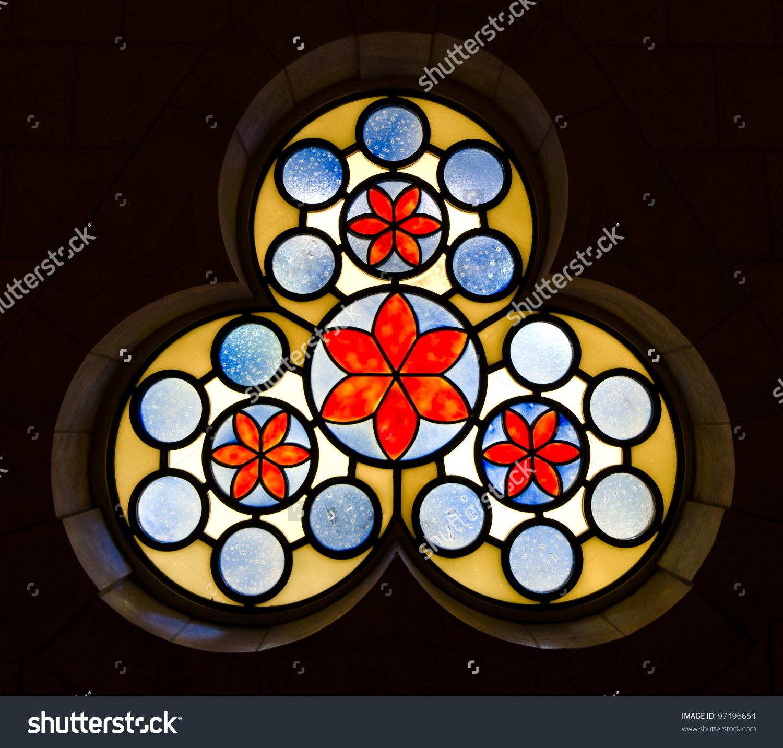 Decorative Vitrage Window At The Hurva Synagogue.