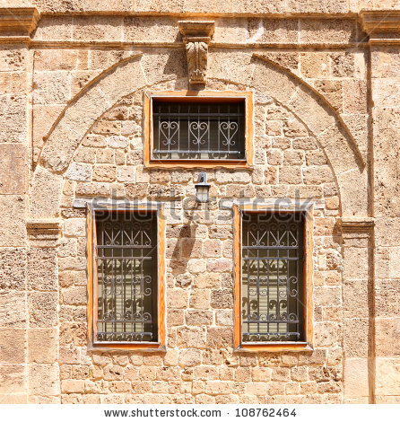 Windows With Shutters Of Old Mediterranean House Made From.
