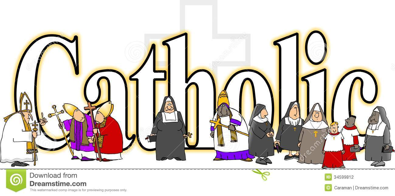 Early Roman Catholic Church Clergy Clip Art.