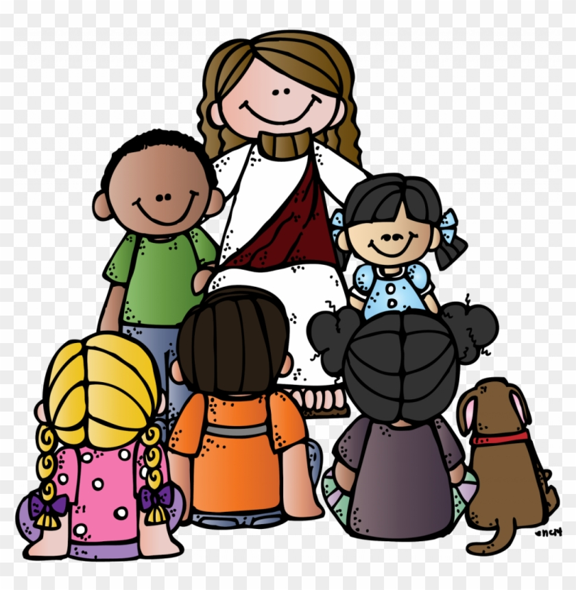 Download Pretty Jesus With Children Clip Art.