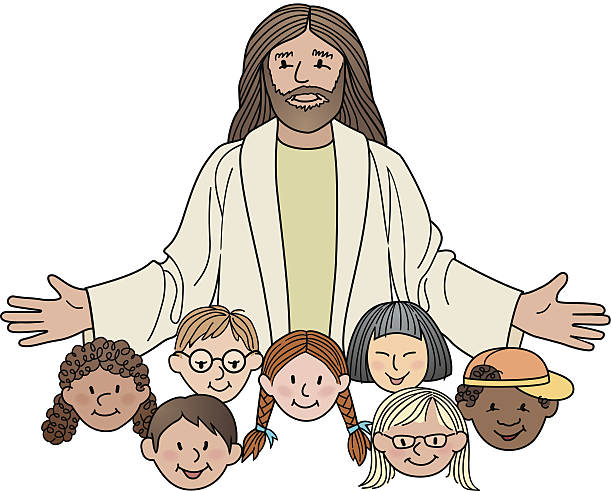 Jesus With Kids Clipart.