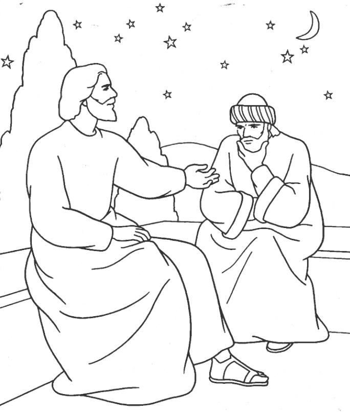 Free Jesus And Nicodemus Coloring Page, Download Free Clip Art, Free.