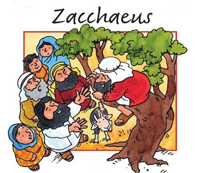 jesus and zaccheas clipart #4