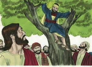 jesus and zaccheas clipart #5