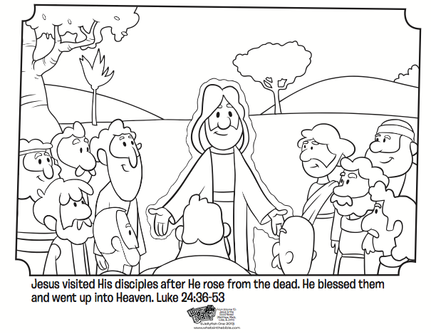 Jesus And His Disciples Coloring Pages.