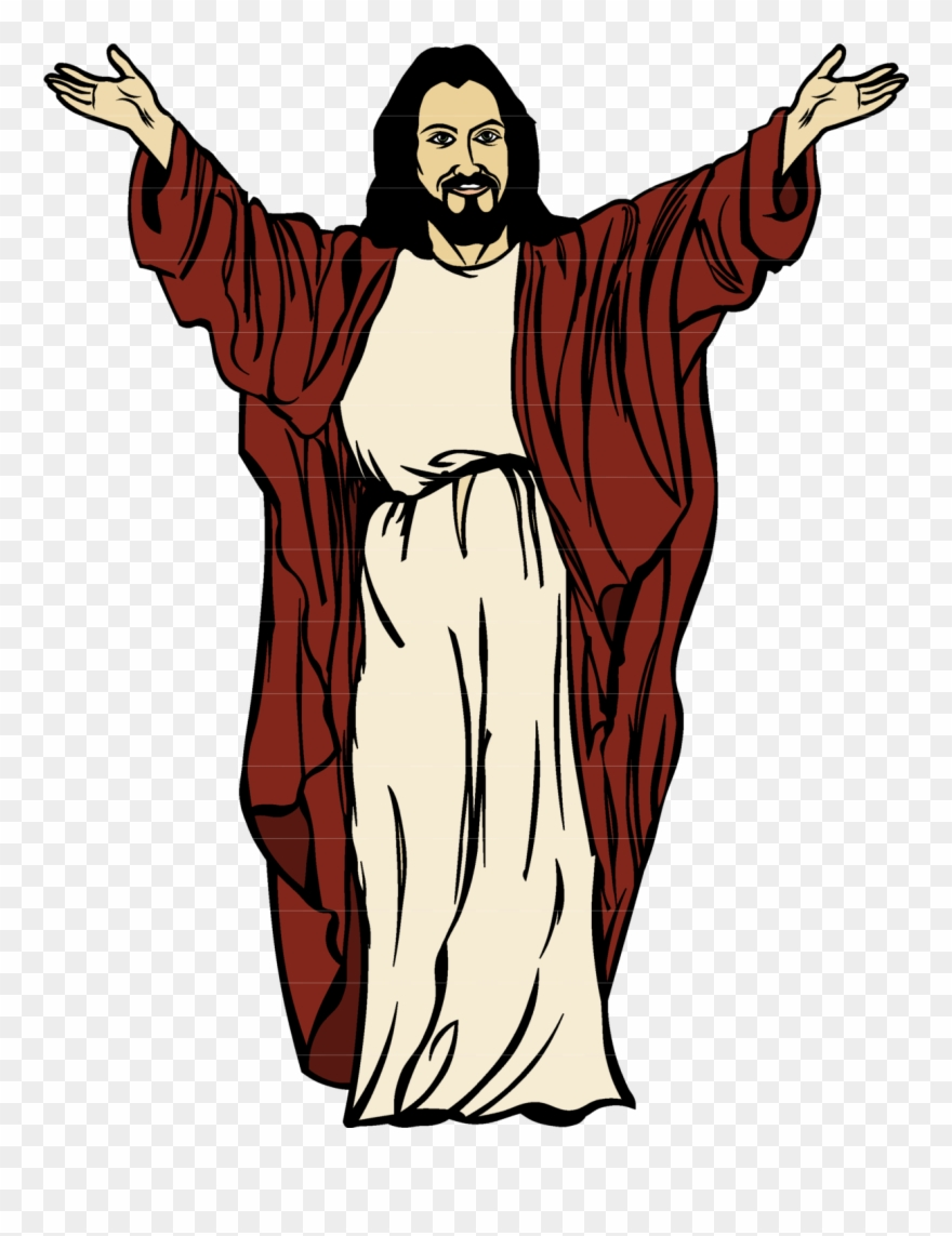 Jesus With Arms Outstretched Clipart.