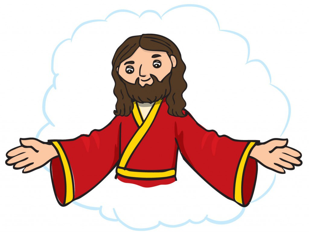 Jesus With Outstretched Arms Clip Art #108949.
