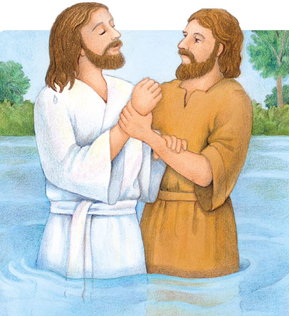 Jesus Is Baptized Clipart.