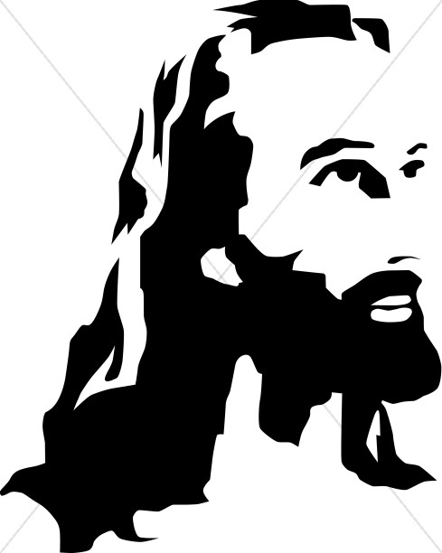 Black and White Christ Portrait.