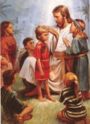 Jesus Blessing Baby Clipart.