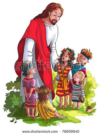 Jesus Children Stock Images, Royalty.