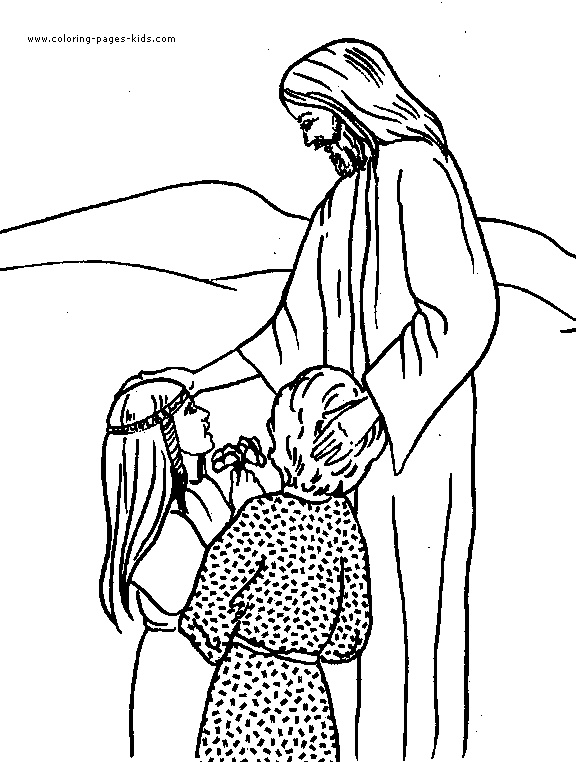 jesus blessing children clipart - Clipground
