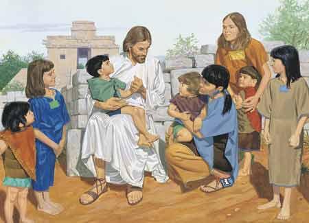 Jesus Blessing Children Clipart.