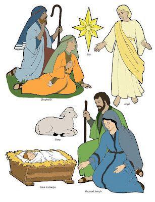 Birth of Jesus printable cutouts.