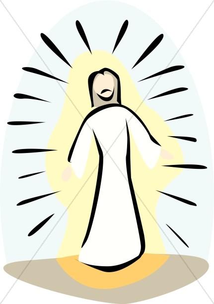 Transfigured By Jesus Clipart