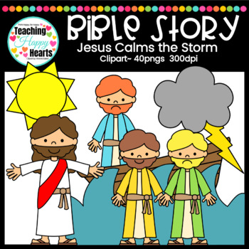 Jesus Calms the Storm Clipart.