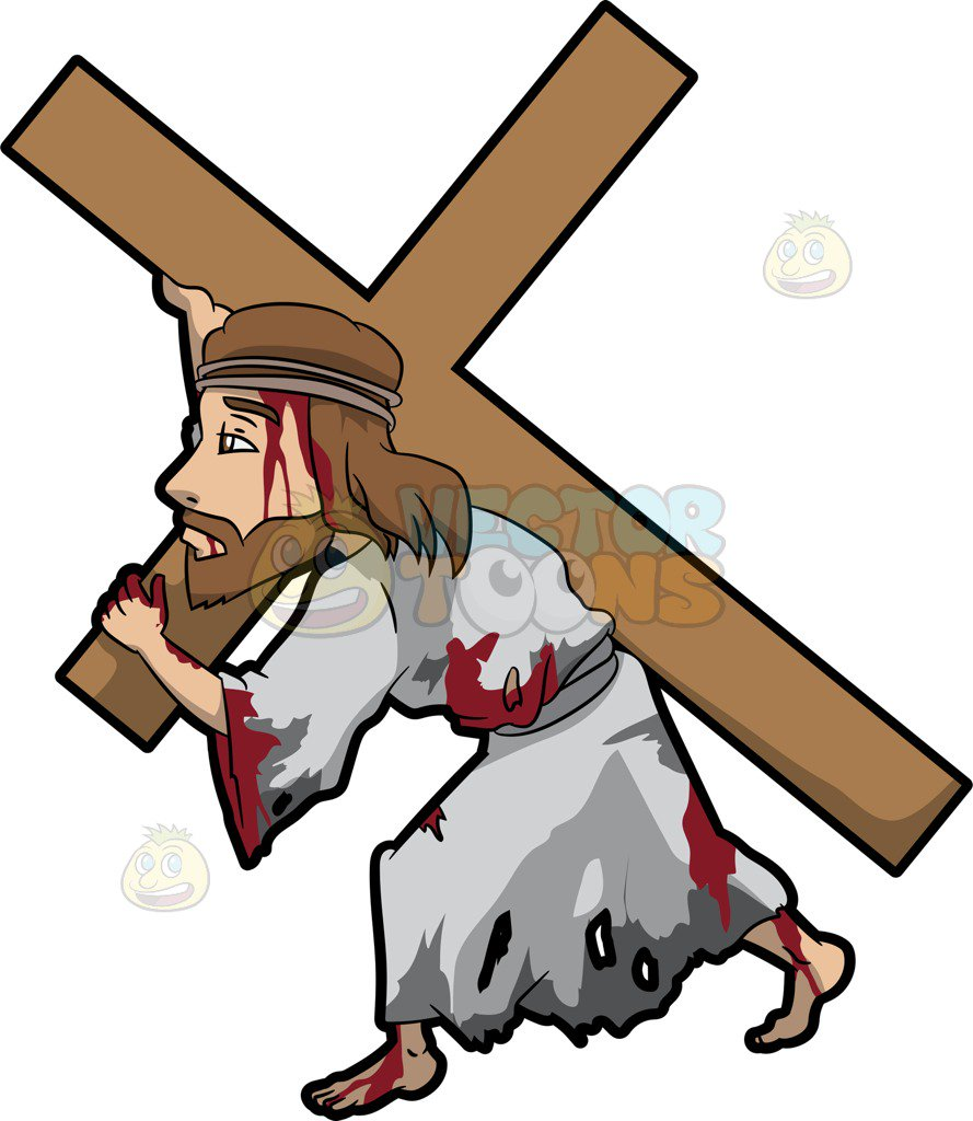 Jesus carrying cross clipart 1 » Clipart Station.