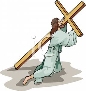 Jesus carrying the cross clipart 4 » Clipart Station.