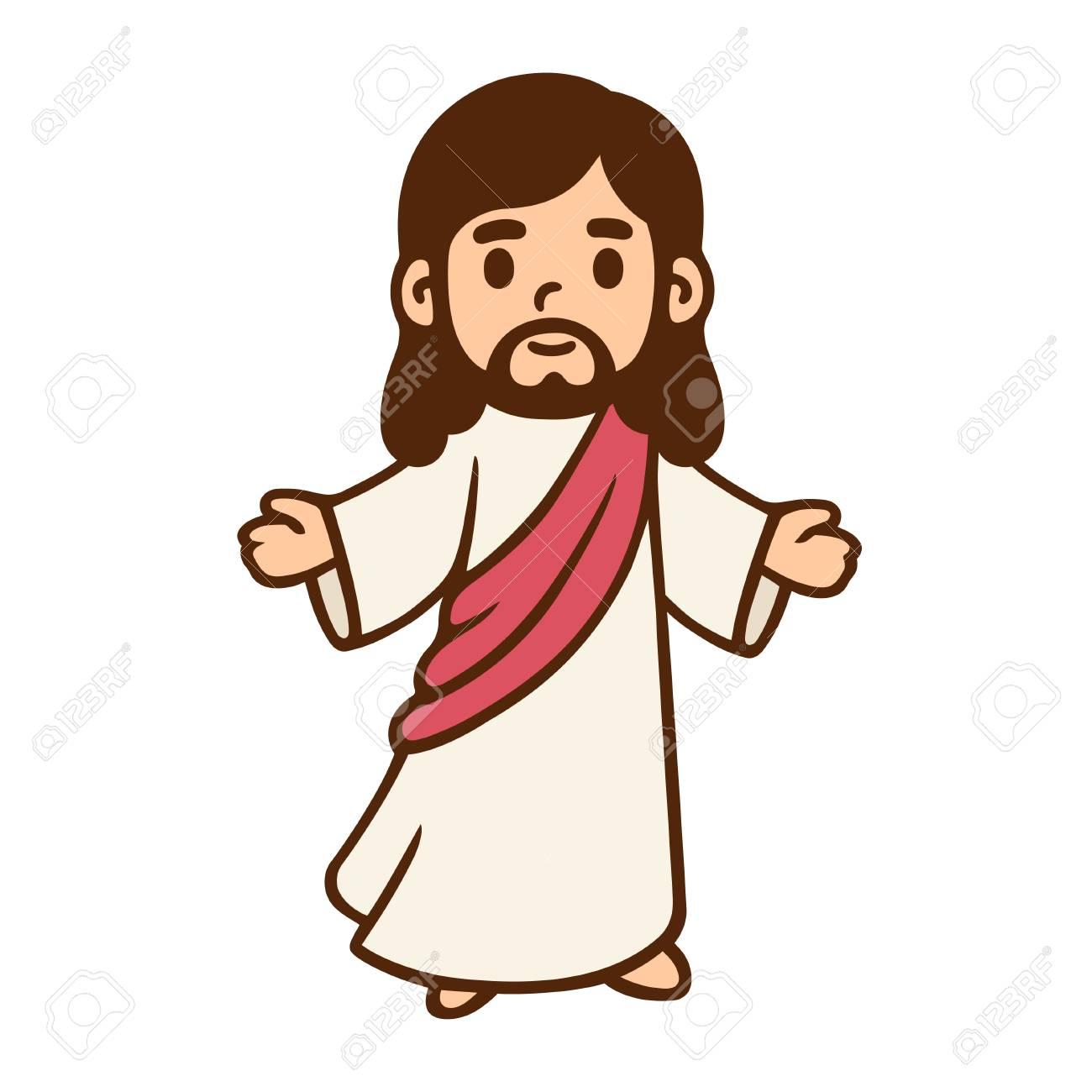 Jesus Christ in cute cartoon style..