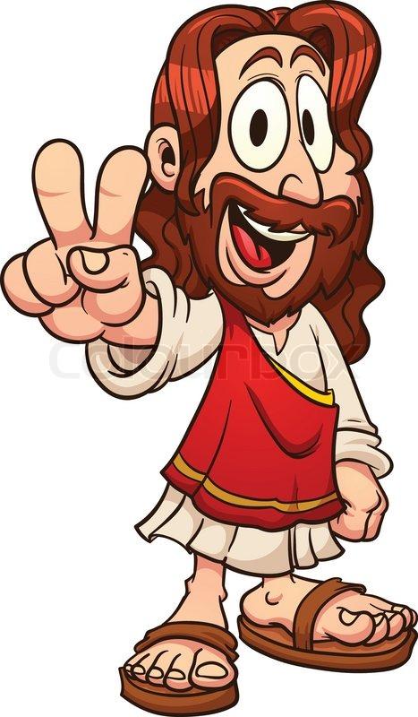 Cartoon Jesus. Vector clip art.