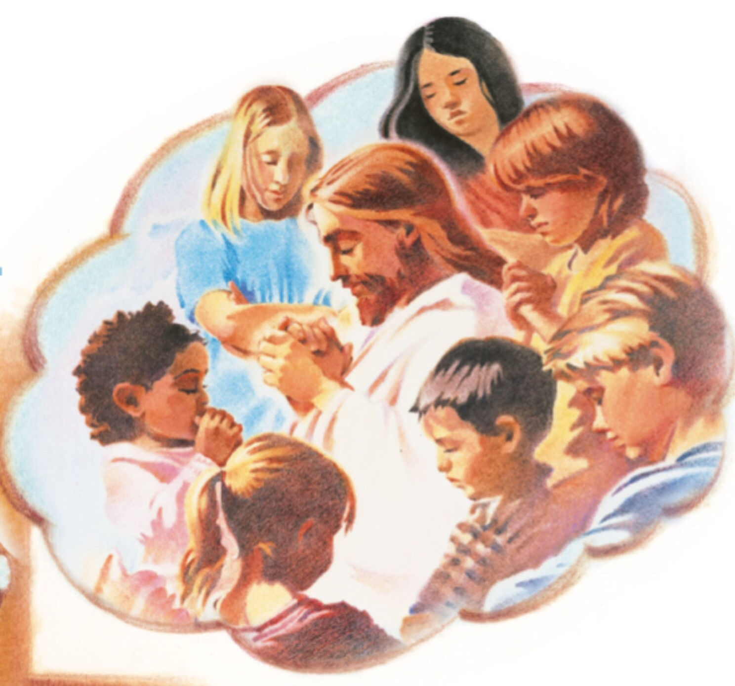 Jesus Is Lives Children Clipart.