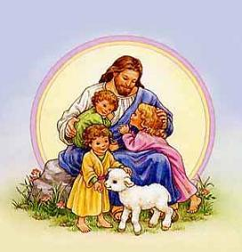 Free Jesus with Children clipart.