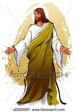 Jesus Christ blessing Clip Art.