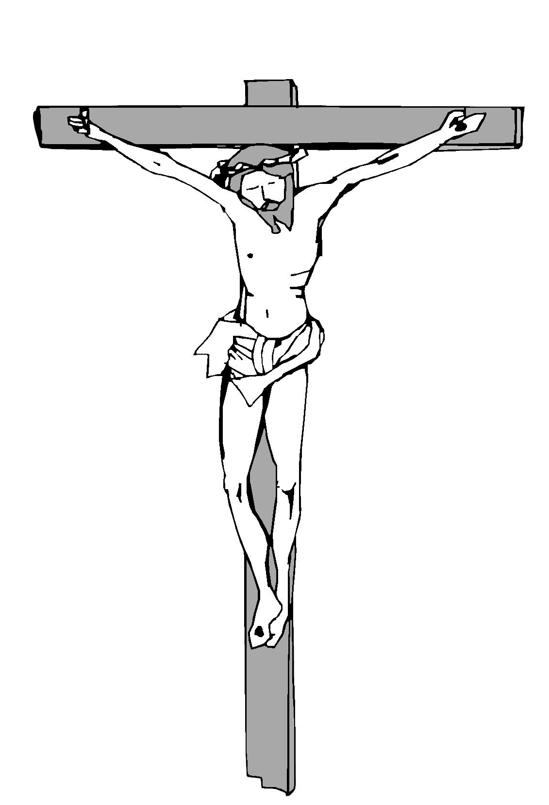 Jesus Christ on the cross clipart..